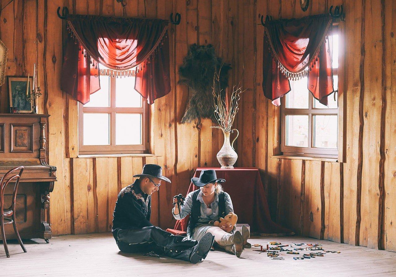 Jak powstawał western, czyli podziękowanie dla rodziców, na wesoło 00388 fotograf znin 15